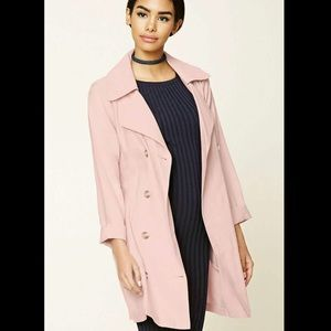 FOREVER 21 Pink Summer Trench Coat